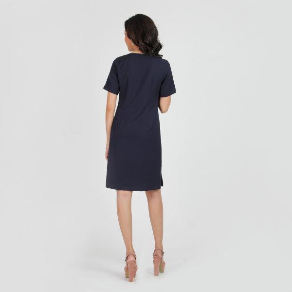 Jousse Dress ชุดเดรส เดรสทำงาน ชุดเดรสทำงาน สีกรม ทรงเอ เบสิค JT7UNV