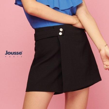 กางเกงขาสั้น ผู้หญิง สีดำ กางเกงกระโปรง | Jousse
