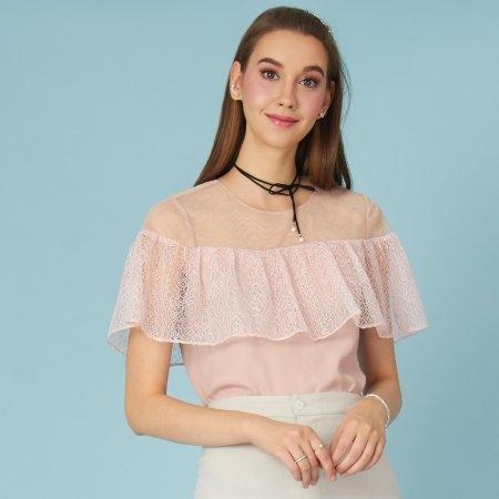 เสื้อผู้หญิงสีชมพู ตกแต่งลูกไม้สุดหวาน | Jousse