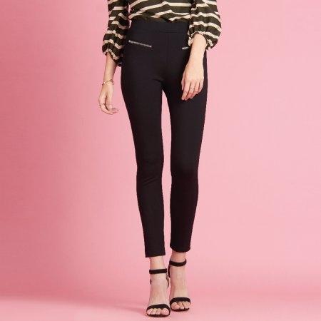 กางเกงเลคกิ้งขายาว สีดำ สุดเบสิค | Jousse