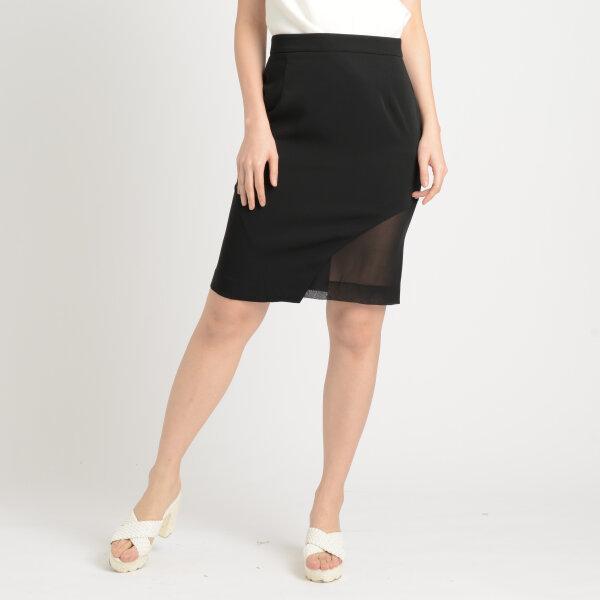 Jousse Skirt กระโปรงทำงานทรงสอบเข้ารูปสีดำ ดีเทลซีทรูผ่าด้านข้าง JUK3BL