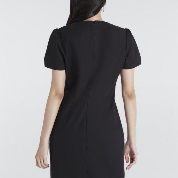Jousse Dress ชุดเดรสทำงานสีดำ คอกลม ทรงสอบเข้ารูป เก็บหุ่นเป๊ะ JU15BL