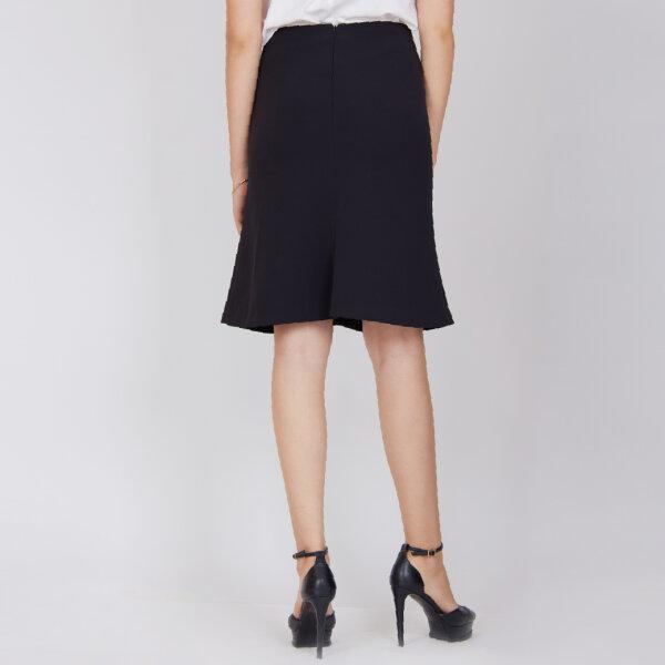 Jousse skirt กระโปรงทำงาน กระโปรงสีดำ เอวสูง ทรงเอ ความยาวสุภาพ JV27BL