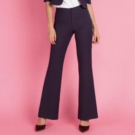 กางเกงทำงานผู้หญิง ขาม้า สีกรม | Jousse