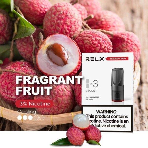 POD RELX FRAGRANT FRUIT 3% (3PCS) - ลิ้นจี่