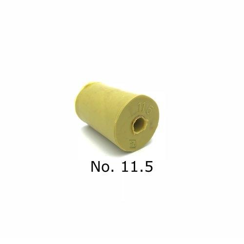 จุกยาง No. 11.5 เจาะรู สำหรับ ขวดเพาะเลี้ยงเนื้อเยื่อ 750 cc (Black Label) - Rubber Stopper (ถุงละ 100 ชิ้น)