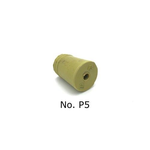 จุกยาง No. P5 เจาะรู สำหรับ ขวดเพาะเลี้ยงเนื้อเยื่อ - Rubber Stopper (ถุงละ 100 ชิ้น)