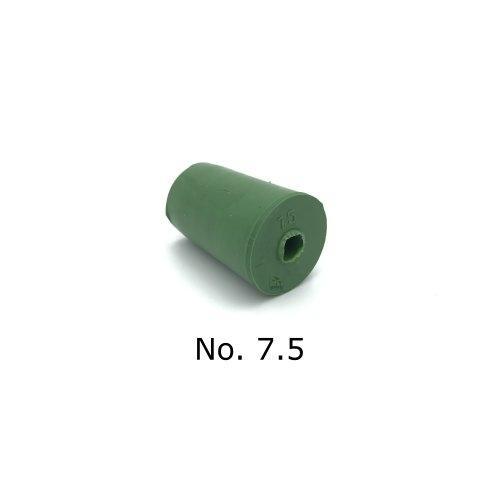 จุกยาง No. 7.5 เจาะรู สำหรับ ขวดเพาะเลี้ยงเนื้อเยื่อ - Rubber Stopper (ถุงละ 100 ชิ้น)