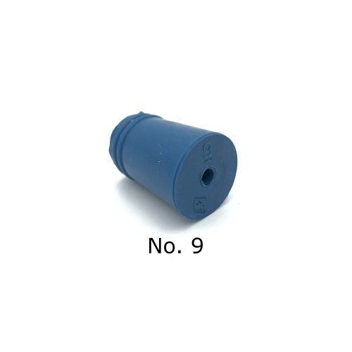 จุกยาง No. 9 เจาะรู สำหรับ ขวดเพาะเลี้ยงเนื้อเยื่อ - Rubber Stopper (ถุงละ 100 ชิ้น)