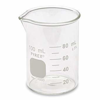บีกเกอร์แก้ว ขนาด 100 ml - Beaker Glass #1000-100 Pyrex