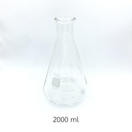 ขวดรูปชมพู่ - Erlenmeyer Flask 2000 ml  #4980-2L Pyrex