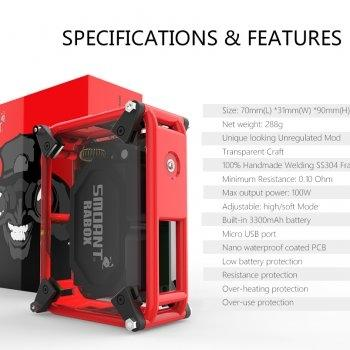 Smoant Rabox 100W 3300mAh Mechanical Mod [ แท้ ]