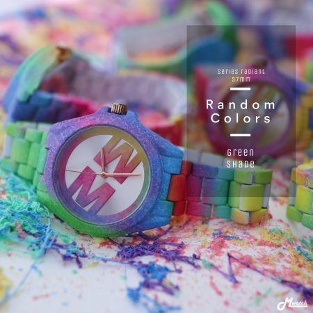 Mwatch 364 series Radiant นาฬิกาสีรุ้งไล่เฉด เขียว/ชมพู