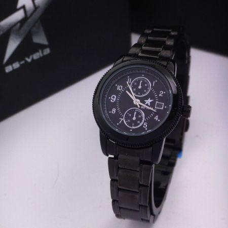 147 Couple Watch นาฬิกาคู่สีดำ by As-Vela
