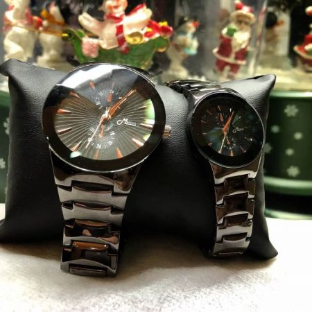 158 Couple watch Black by Mwatch