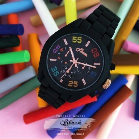 352 Series #Arabic นาฬิกาข้อมือสีสดใส เนื้อแมทช์