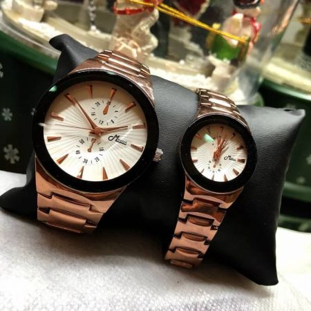 157 Couple watch Brown by Mwatch