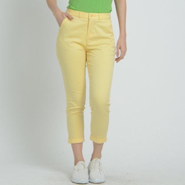 GSP จีเอสพี กางเกงชิโน่ สีเหลือง ขา 5 ส่วน PG8KLY