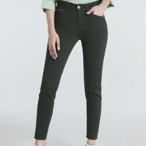 GSP จีเอสพี Magic Jeans กางเกงเก็บหน้าท้อง ขายาว สีเขียวขี้ม้า ทรงสกินนี่ PP16DR