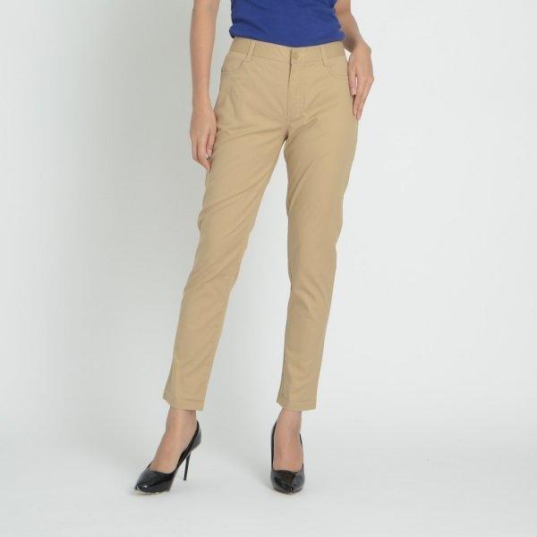 GSP จีเอสพี กางเกงชิโน่ ขายาว สีน้ำตาลอ่อน P962OT