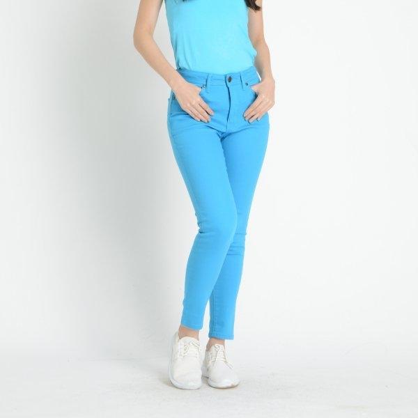 GSP จีเอสพี Magic Jeans กางเกงเก็บหน้าท้อง สีฟ้า ทรงสกินนี่ PF8GBU