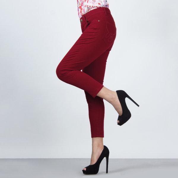 GSP จีเอสพี Magic Jeans ขา5ส่วน สีแดง PR3LDE