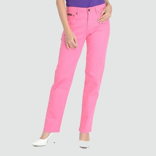 GSP จีเอสพี Magic Jeans กางเกงเก็บหน้าท้อง ขายาวสีชมพู ทรงขาตรง PC5CLP