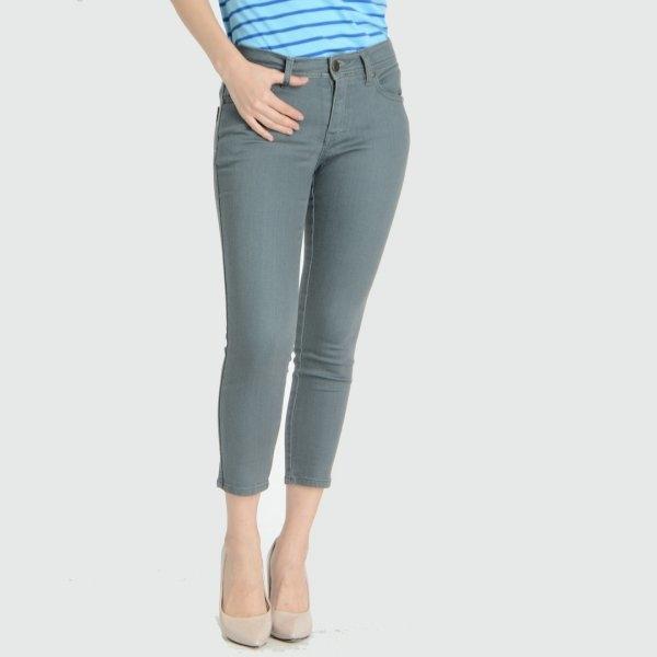 GSP จีเอสพี กางเกงเก็บหน้าท้อง ขา 5 ส่วน สีเทา PC5BDG