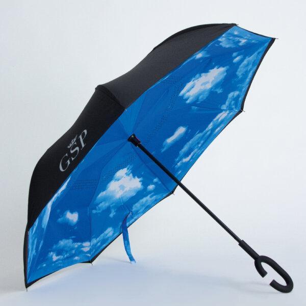 GSP จีเอสพี ร่มกลับด้าน ลายท้องฟ้า กันยูวีและกันฝน ZU13BU