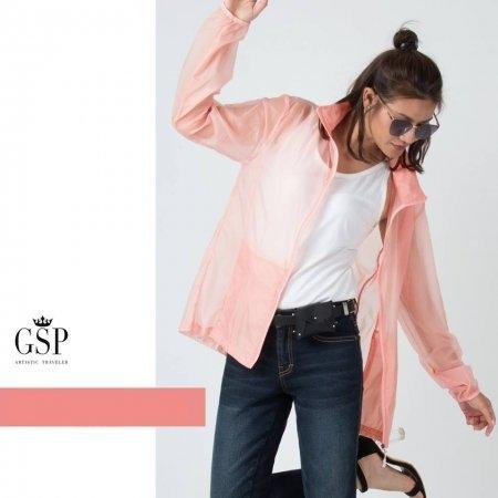 GSP จีเอสพี UV Light Jacket กันแดด กันลม สีโอรส PR11LO