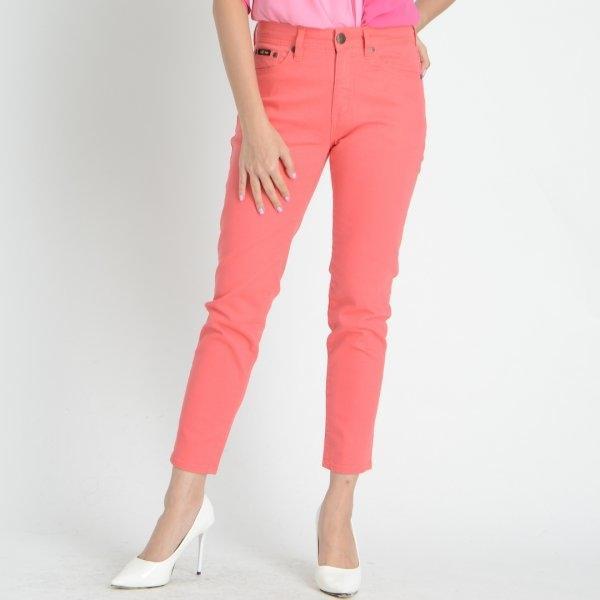 GSP จีเอสพี Magic Jeans กางเกงเก็บหน้าท้อง ขา 5 ส่วน สีโอรส ทรงสกินนี่ PC5DPI
