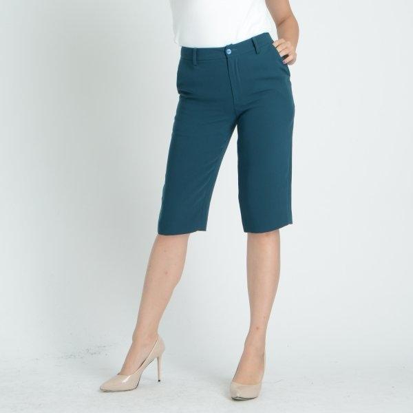 GSP จีเอสพี กางเกงทำงาน สีเขียวเข้ม ขาสี่ส่วน ทรงกระบอก SI1ODR