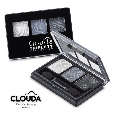 CLOUDA Triplette Eyeshadow #01 Glitter Grey