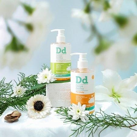 Derpa derma shower oil certified organic for dry and sensitive skin 280 ml.