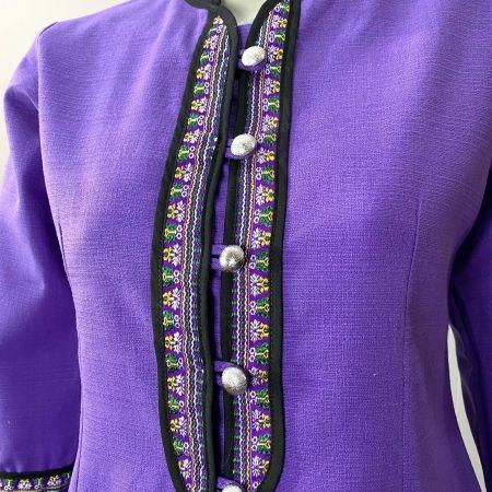 เสื้อผ้าฝ้ายซินมัย-สีม่วง