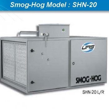 Oil mist collector เครื่องดักควันและไอน้ำมันระบบไฟฟ้าสถิตย์ ESP : Smog-Hog Model : SHN-20M-XB