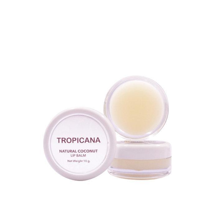 ลิปบาล์มบำรุงริมฝีปากน้ำมันมะพร้าว Tropicana สูตร NON PRESERVATIVE กลิ่น COCONUT DELIGHT ขนาด 10 G