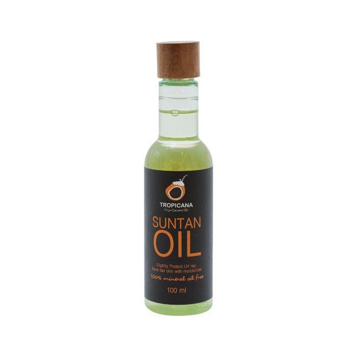 น้ำมันมะพร้าวบริสุทธิ์สกัดเย็นออร์แกนิก Tropicana สำหรับปรับสีผิว สูตร NON PRESERVATIVE ขนาด 100 ML