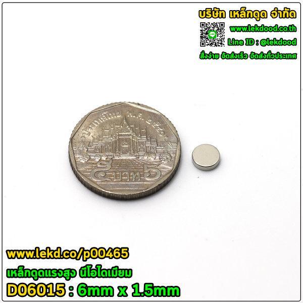 > แรงดูดสูงสุด (กำลังทดสอบ) กรัมแรง < ขนาด 6mm x 1.5mm รหัส 00465-D06015