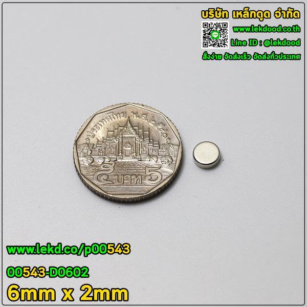 แม่เหล็กแรงสูง ขนาด 6mm x 2mm รหัส 00543-D0602