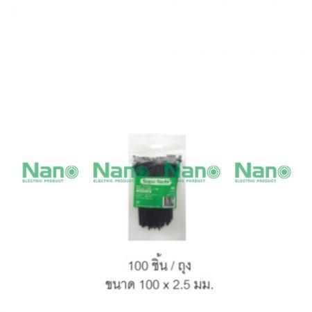 เคเบิ้ลไทร์ NANO ดำ(100 ชิ้น/ถุง, 10,000 ชิ้น/กล่อง) SN-100-2B