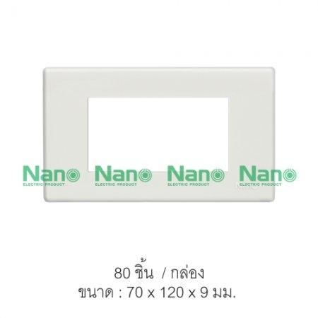 หน้ากากขอบเหลี่ยม NANO  3ช่อง (80 ชิ้น/กล่อง) NANO-400-3