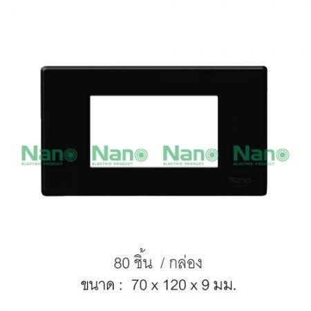 หน้ากากขอบเหลี่ยม NANO  (ดำ) 3ช่อง (80 ชิ้น/กล่อง) NANO-400-3B