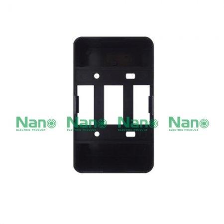 กล่องลอยขอบมน NANO  สีดำ  (50 ชิ้น/กล่อง ) NANO-403-2B