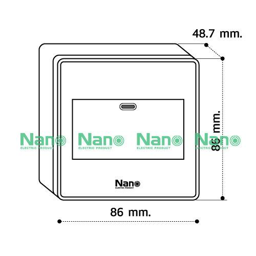 ชุดฝา NANO  3ช่อง 1สวิตช์ขนาด 3 ช่อง+บล็อกลอยขนาด 3*3นิ้ว สีดำ (1 ชิ้น/ 16 ชิ้นต่อกล่อง) CS861-bb