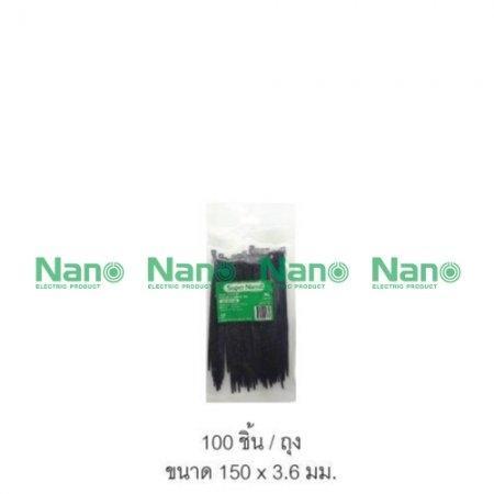 เคเบิ้ลไทร์ NANO ดำ(100 ชิ้น/ถุง, 10,000 ชิ้น/กล่อง) SN-150-3B