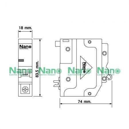 เซอร์กิตเบรกเกอร์ ปลั๊กออน NANO (Plug-on) 1Pole 10A 6kA (1 ชิ้น / 12 ชิ้นต่อกล่อง) NP1C10
