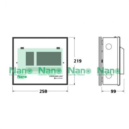 ตู้คอนซูมเมอร์ยูนิต NANO 6 ช่อง(ปลั๊กออน) MCB 32A+ลูกย่อย6ลูก (1 ชิ้น / 10 ชิ้นต่อกล่อง) PCM06-32B