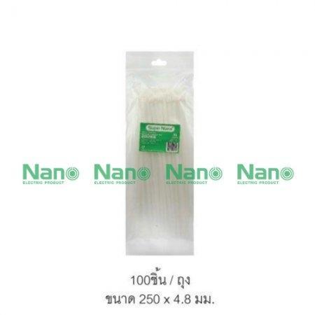 เคเบิ้ลไทร์ NANO ขาว(100 ชิ้น/ถุง, 5,000 ชิ้น/กล่อง) SN-250-4C