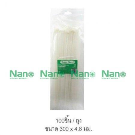 เคเบิ้ลไทร์ NANO ขาว(100 ชิ้น/ถุง,  5,000 ชิ้น/กล่อง) SN-300-4C